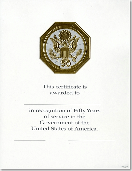 opm federal career service award certificate wps 110