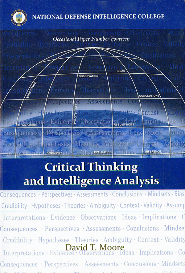 critical thinking and intelligence analysis occasional paper number fourteen