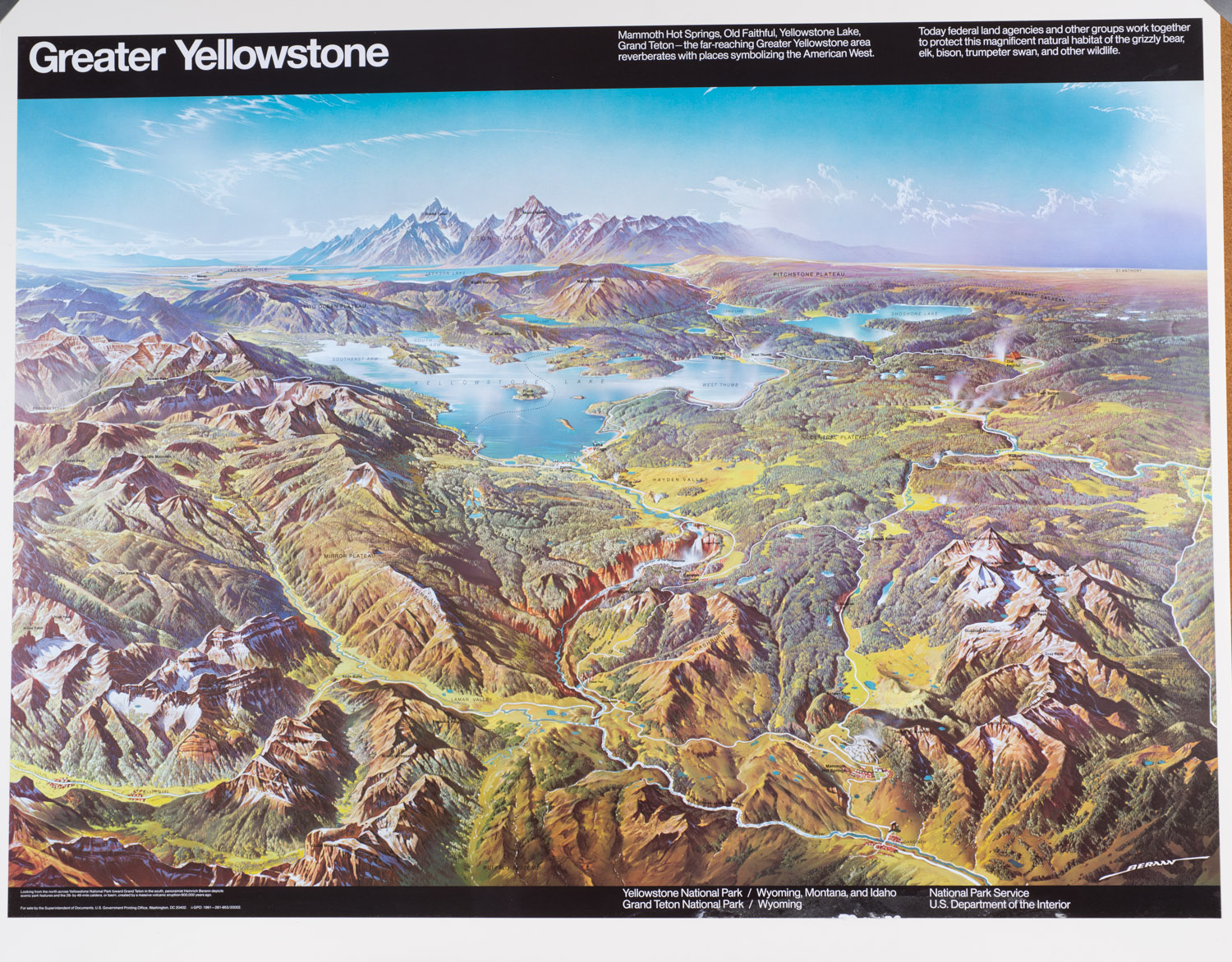Greater Yellowstone Poster US Government