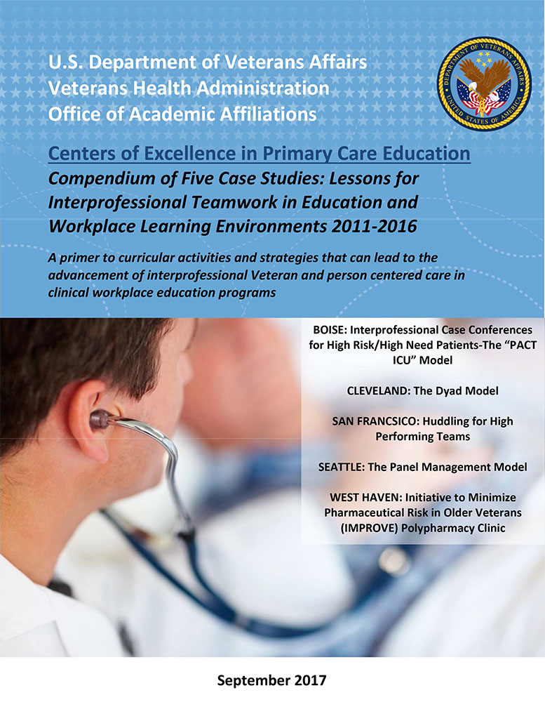 New centers of excellence in primary care education ebook new veterans affairs ebook takes a look at the veterans health care system and professional teamwork training through several case studies in primary care fandeluxe Gallery