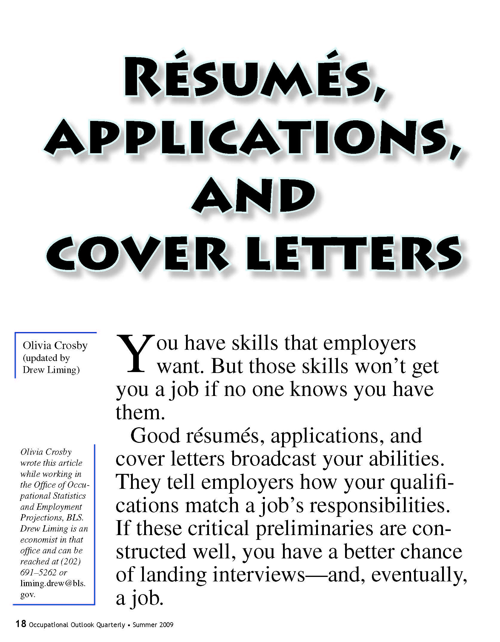 Resumes Applications And Cover Letters U S Government Bookstore