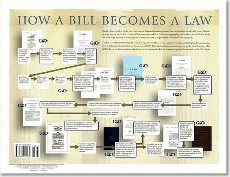 How a Bill Becomes a Law (Poster 8 1/2 x 11)