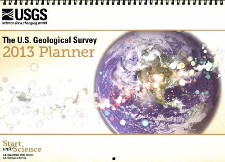 U.S. Geological Survey 2013 Wall Calendar and Events Planner