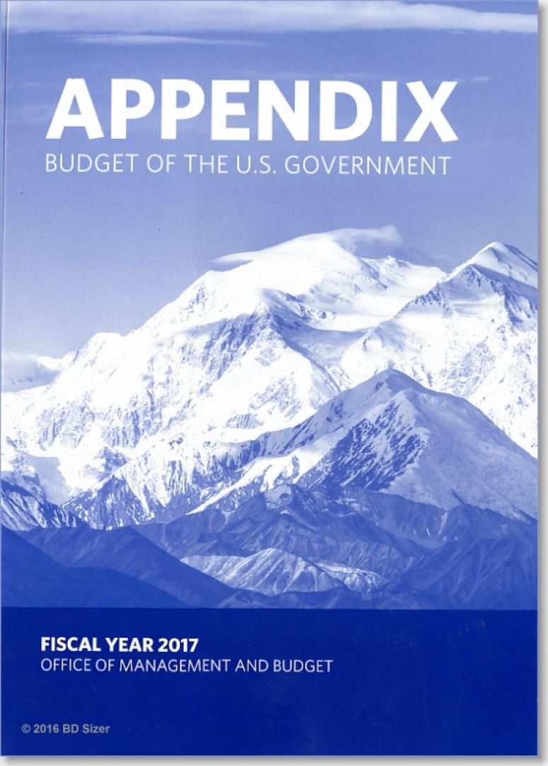 Budget of the U.S. Government, Appendix, Fiscal Year 2017