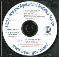 Census of Agriculture, 2002, V. 1-2 (CD-ROM)