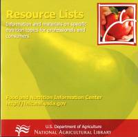Food and Nutrition Information Center Resources CD-ROM
