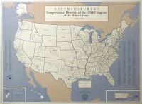 Congressional Districts of the 112th Congress of the United States (Wall Map)