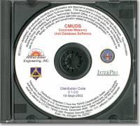 Concrete Unit Masonry Database Software (CMUDS) (CD-ROM) (Controlled Item)