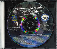 Personnel Screening Guide (PSG) (CD-ROM) (Controlled Item)
