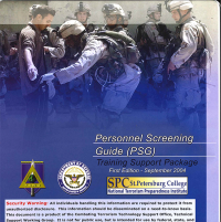 Personnel Screening Guide (PSG) (Spiral Bound) (Package of 10) (TSWG Controlled Item)