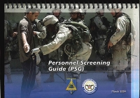 Personnel Screening Guide (PSG): Training Support Package (Looseleaf) (Controlled Item)