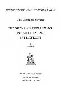 United States Army in World War 2, The Technical Services, The Ordnance Department, On Beachhead and Battlefront