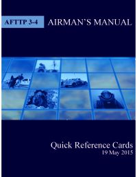 Air Force Tactics, Techniques, and Procedures 3-4, Airman's Manual Quick Reference Cards (Air Force Controlled Item)