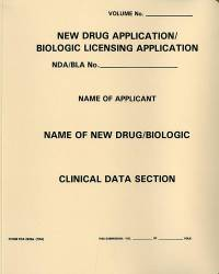 New Drug Application: Clinical Data Section, (Tan Paper Folder)