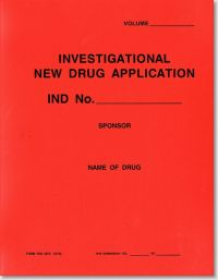 Investigational New Drug Application (Red Polyethylene Folder)