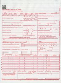 Health Insurance Claim Forms (CMS-1500) 2-Part Snapout (Package of 100) (2012)