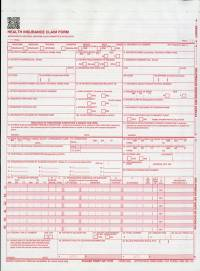Health Insurance Claim Forms (CMS-1500) 1-part Continuation (2012) (Package of 2500)