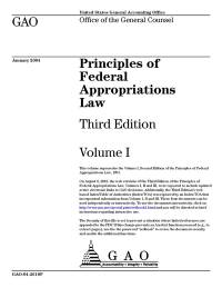 Principles of Federal Appropriations Law Volume 1 reprint