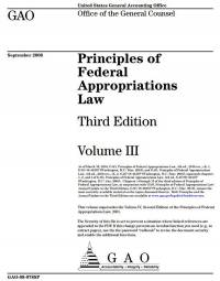 Principles of Federal Appropriations Law Volume 3