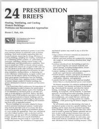 Preservation Briefs 24-34: Recognizing and Resolving Common Preservation and Repair Problems Prior to Working on Historic Buildings