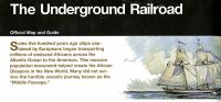 Underground Railroad: Official Map and Guide (Folder)
