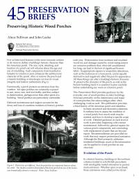 Preserving Historic Wood Porches