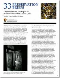 The Preservation and Repair of Historic Stained and Leaded Glass