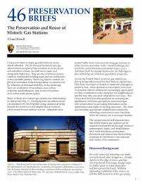 Preservation and Reuse of Historic Gas Stations (2008)