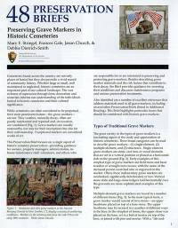 Preserving Grave Markers in Historic Cemeteries