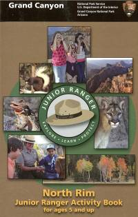 Grand Canyon North Rim Junior Ranger Activity Book for Ages 5 and Up
