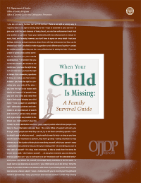 When Your Child Is Missing:  A Family Survival Guide