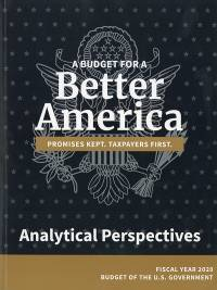 Analytical Perspectives, Budget Of The United States Government       Fy 2020