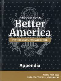 Appendix, Budget Of The United States Government Fy 2020