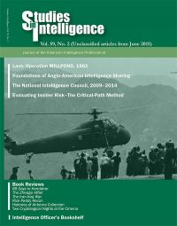 Studies in Intelligence: Journal of the American Intelligence Professional, V. 59, No. 2 (Unclassified Articles From June 2015)