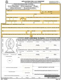 Application For a U.S. Passport, Form DS-11 (2010)