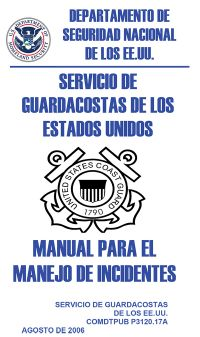 Manual Para el Manejo de Incidentes / Servicios de Guardacostas