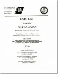 Light List, 2010, V. 4, Gulf of Mexico, Econfina River