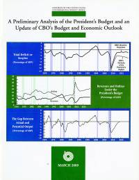 A Preliminary Analysis of the President's Budget and an Update of CBO's Budget and Economic Outlook