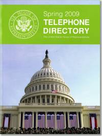 United States House of Representatives Telephone Directory, Spring 2009