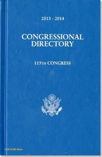 Official Congressional Directory 113th Congress, 2013-2014 (Hardcover)
