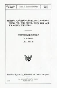 Making Further Continuing Appropriations for the Fiscal Year 2003, and for Other Purposes: Conference Report to Accompany H.J. Res. 2, February 13 (Legislative Day February 12), 2003