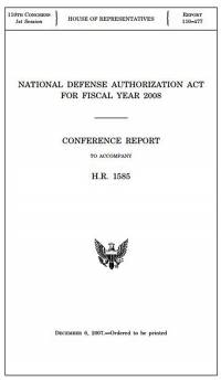 National Defense Authorization Act for Fiscal Year 2008, Senate Report
