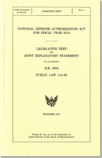 National Defense Authorization Act for Fiscal Year 2014, Public Law 113-66