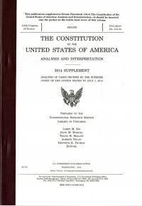 The Constitution of the United States of America: Analysis and Interpretation, 2006 Supplement, Analysis of Cases Decided by the Supreme Court of the United States to June 29, 2006