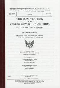 2018 Supplement to the Constitution of the U.S. of America Analysis  and Interpretation