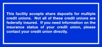 NCUA Shared Branch Signs (English)