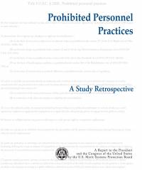 Prohibited Personnel Practices: A Study of Retrospective