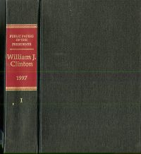 Public Papers of the Presidents of the United States, William J. Clinton, 1997, Book 1, January 1 to June 30, 1997