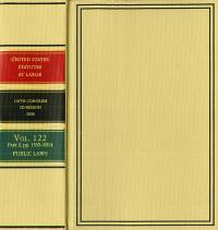 United States Statutes at Large, V. 122, 2008 (Parts 1-4)