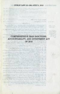 Comprehensive Iran Sanctions Accountability and Divestment Act of 2010, Public Law 111-195